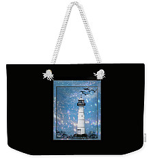 Starlight Lighthouse Weekender Tote Bag
