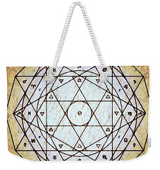 Weekender Tote Bag featuring the digital art Starr Matrixx by Derek Gedney