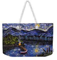Starry Lake Weekender Tote Bag