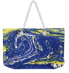 Starry Night Abstract Weekender Tote Bag by Menega Sabidussi