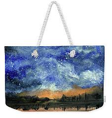 Starry Night Across Our Lake Weekender Tote Bag