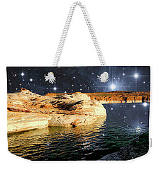 Starry Night Fantasy, Lake Powell, Arizona Weekender Tote Bag by A Gurmankin NASA STSci