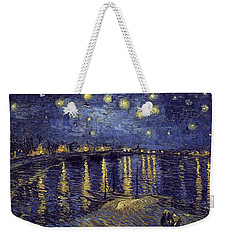 Weekender Tote Bag featuring the painting Starry Night Over The Rhone by Van Gogh