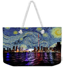 Weekender Tote Bag featuring the painting Starry Night Toronto Canada by Movie Poster Prints