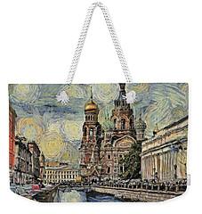 starry Saint Petersburg Weekender Tote Bag
