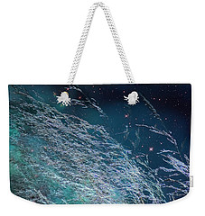 Weekender Tote Bag featuring the photograph Starry Sky Grass by Yulia Kazansky