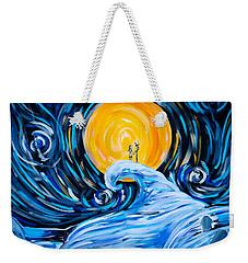 Starry Spiral Hill Night Weekender Tote Bag