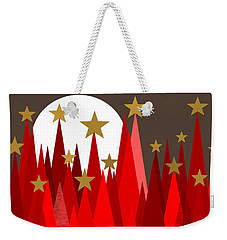 Starry Winter Night Weekender Tote Bag