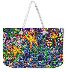Weekender Tote Bag featuring the digital art Stars by Adria Trail