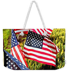 Stars And Stripes Weekender Tote Bag by Janine Riley