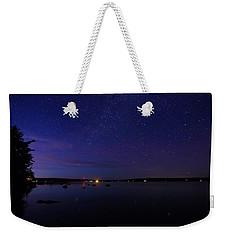Stars Over Branch Lake Weekender Tote Bag