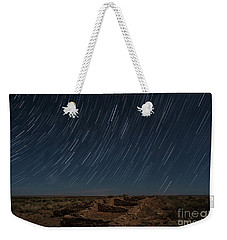 Weekender Tote Bag featuring the photograph Stars Remain Unchanged by Melany Sarafis