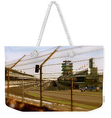 Weekender Tote Bag featuring the photograph Start Finish Indianapolis Motor Speedway by Iconic Images Art Gallery David Pucciarelli