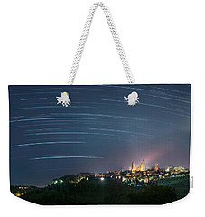 Startrails Over San Gimignano Weekender Tote Bag