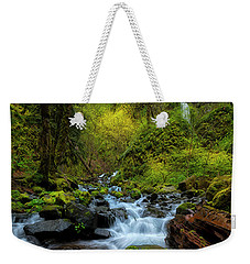 Weekender Tote Bag featuring the photograph Starvation Creek And Falls by Ryan Manuel