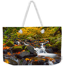 Starvation Creek Falls Weekender Tote Bag by Patricia Davidson