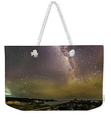 Weekender Tote Bag featuring the photograph stary night in Broken beach by Pradeep Raja Prints
