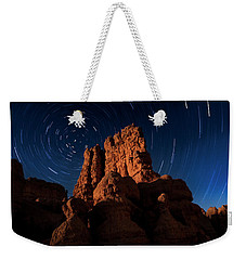 Weekender Tote Bag featuring the photograph Stary Trails At Red Canyon by Edgars Erglis