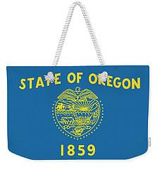 State Flag Of Oregon Weekender Tote Bag by American School