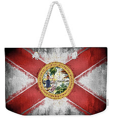 State Of Florida Flag Weekender Tote Bag by JC Findley