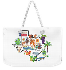 State Of Texas As I Know It Weekender Tote Bag
