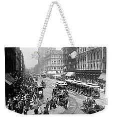 State Street - Chicago Illinois - C 1893 Weekender Tote Bag by International  Images