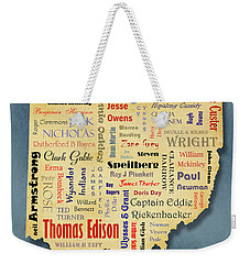 States - Famous Ohio Weekender Tote Bag by Ron Grafe