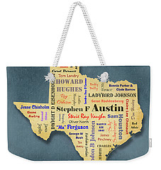 States - Famous Texas Weekender Tote Bag by Ron Grafe