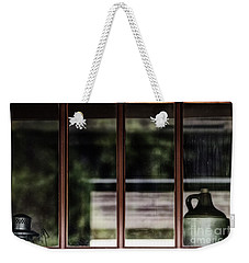 Weekender Tote Bag featuring the photograph Station Window by Brad Allen Fine Art