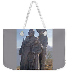 Statuary Dedicated To The American Indian Weekender Tote Bag
