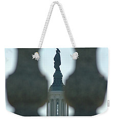 Statue Of Freedom Through Railing Weekender Tote Bag