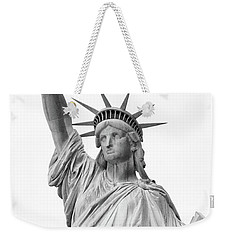 Statue Of Liberty, Black And White Weekender Tote Bag by Sandy Taylor