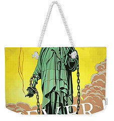 Statue Of Liberty In Chains -- Never Weekender Tote Bag by War Is Hell Store