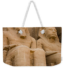 Statues At Abu Simbel Weekender Tote Bag by Darcy Michaelchuk