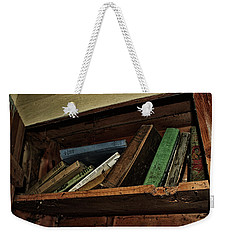 Weekender Tote Bag featuring the photograph Stay A While And Listen by Ryan Crouse