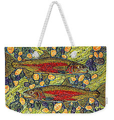 Weekender Tote Bag featuring the painting Stealhead Trout by Debbie Chamberlin