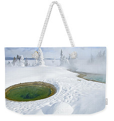 Weekender Tote Bag featuring the photograph Steam And Snow by Gary Lengyel