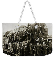 Steam Engine 351 On Turntable Coxton Yards Coxton Pennsylvania Early 1900s Weekender Tote Bag