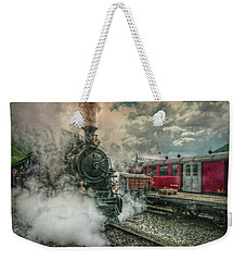 Weekender Tote Bag featuring the photograph Steam Engine by Hanny Heim