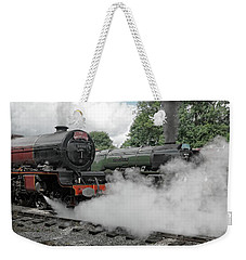 Steam Locomotive Drama Weekender Tote Bag