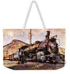 Steam Locomotive Weekender Tote Bag by Ian Mitchell
