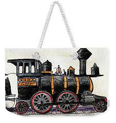 Steam Locomotive Weekender Tote Bag by R Kyllo