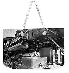 Weekender Tote Bag featuring the photograph Steam Locomotive Side View by Doug Camara