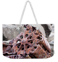 Steam Shovel Number Three Weekender Tote Bag by Kandy Hurley