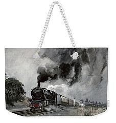 Steam Train At Garsdale - Cumbria Weekender Tote Bag