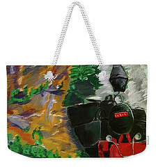 Steam Train Weekender Tote Bag