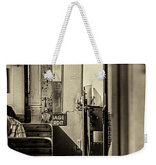 Weekender Tote Bag featuring the photograph Steam Train Series No 33 by Clare Bambers