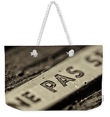 Weekender Tote Bag featuring the photograph Steam Train Series No 35 by Clare Bambers