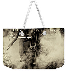 Weekender Tote Bag featuring the photograph Steam Train Series No 4 by Clare Bambers