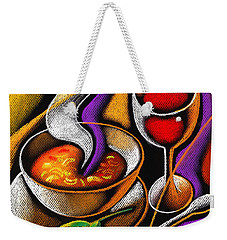 Steaming Supper Weekender Tote Bag by Leon Zernitsky